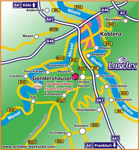 Www Rhein Mosel Org Hotel Zur Post In Gondershausen